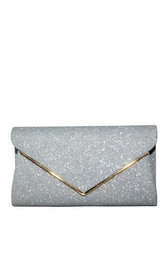Silver Shimmer Clutch