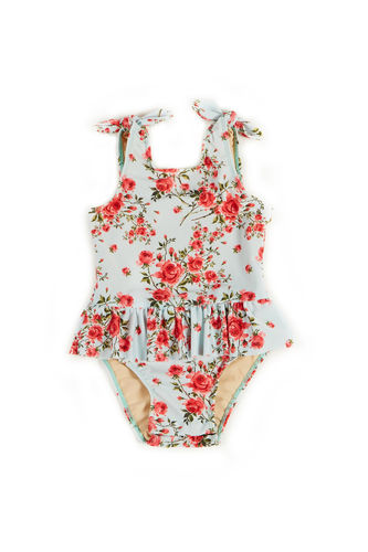 Bella English Rose Print Baby/Toddler One Piece Swimsuit