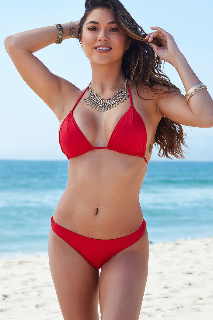 a6464a87466 Red Triangle Bikini Top - DOLL