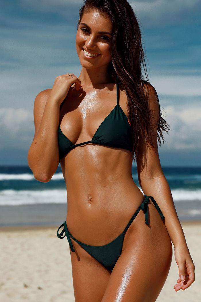 79444d55b68 Hunter Green Micro Bikini Bottom - Babe Society