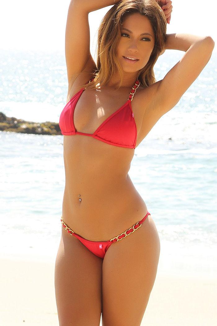 0b7e2eee17b Oahu Red Bikini on a Chain™ Bikini Top - DOLL
