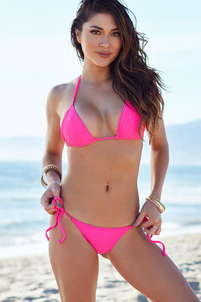 72a90aa1555 Surfside Hot Pink Triangle Bikini Top - DOLL