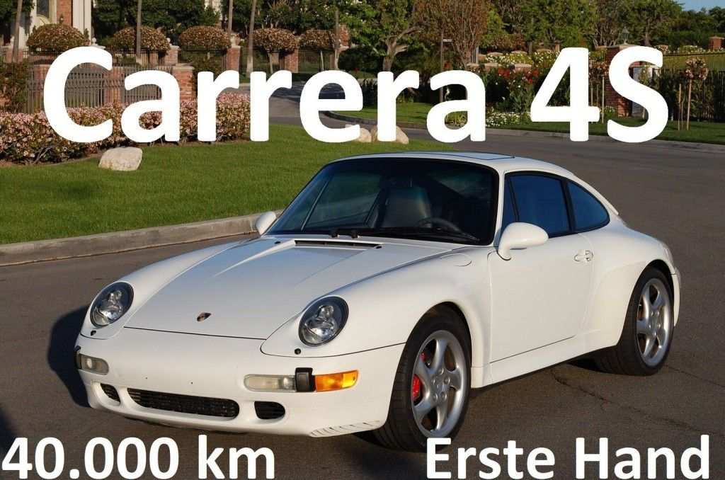 1996 Porsche Carrera 4S 911 993 40.000 km, Aus Erstbesitz, Varioram, Erstlack