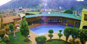 Backdrop of sangay spa hotel