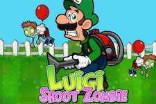 Luigi shoot les zombies