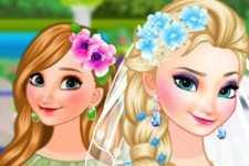 Anne mariée et Elsa demoiselle d'honneur