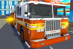 Fire truck rescue driving simulator