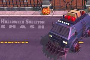 Halloween skeleton smash