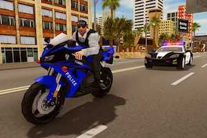 Police chase motorbike driver