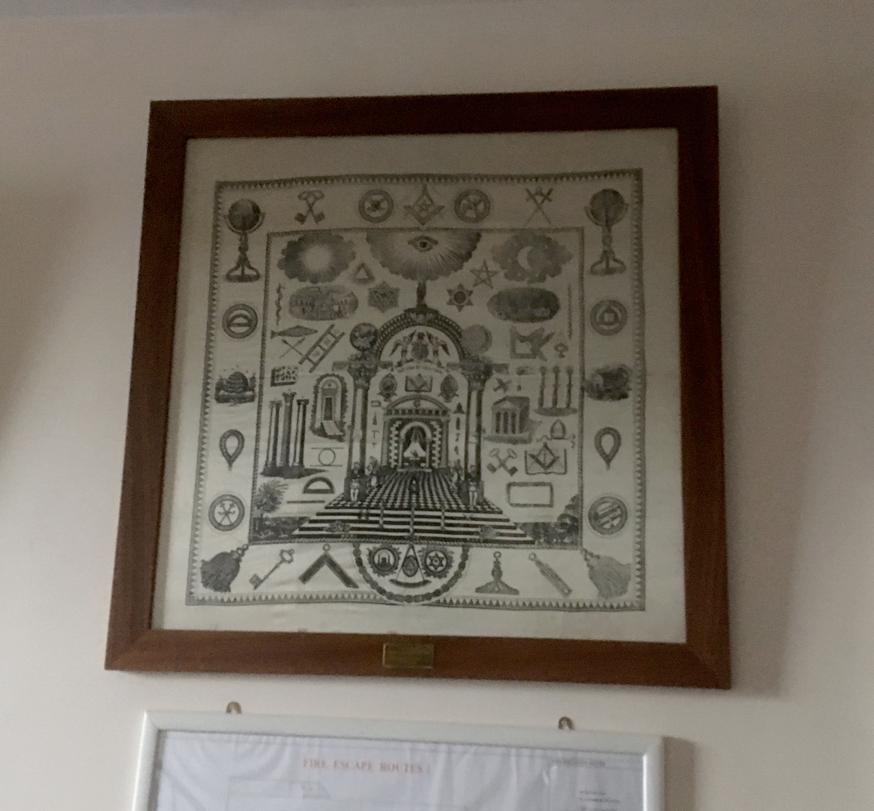 Picture of the Scarf in a frame