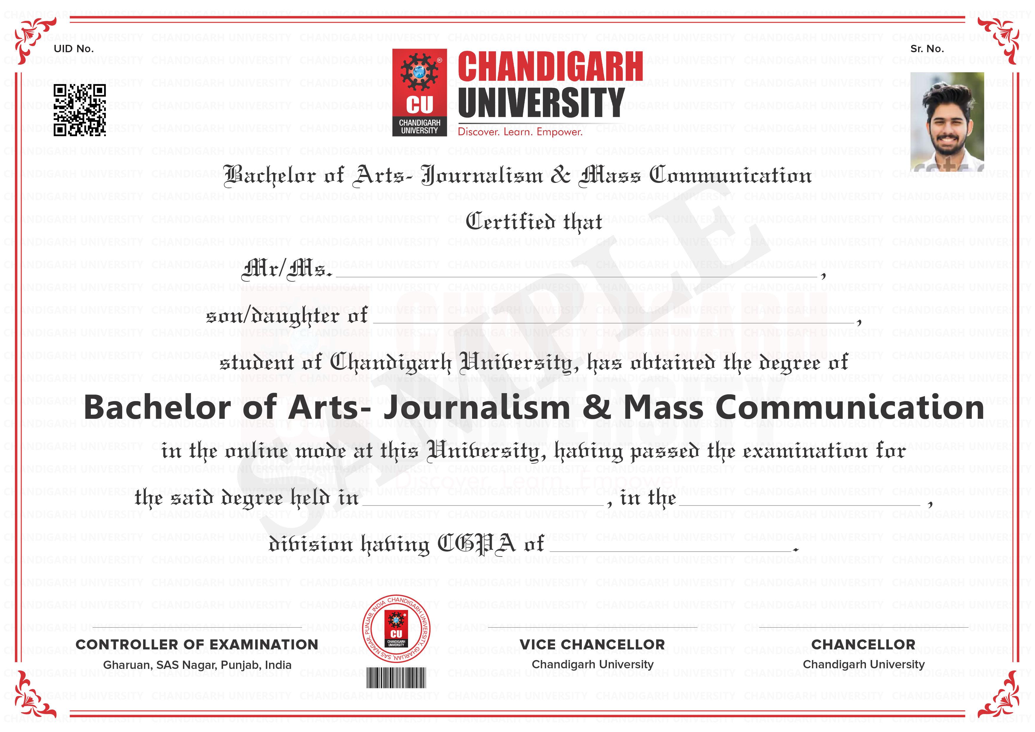 BA - Journalism and Mass Communication