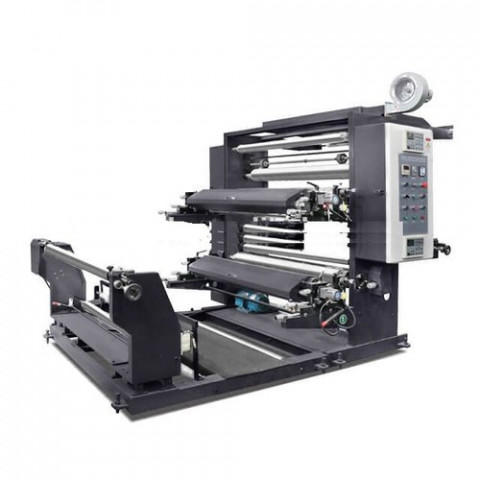 Automatic Roll To Roll 2 Color Flexo Printing Machine