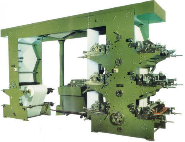 Roll To Roll Automatic Six Color Flexographic Printing Machine