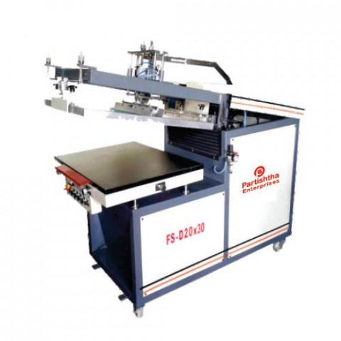Semi-Automatic Clamshell Flat Screen Printing Machine