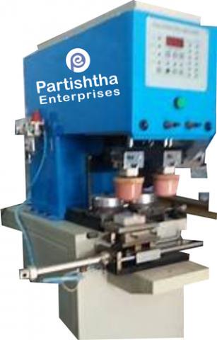 Semi-Automatic Double Color Pad Printing Machine