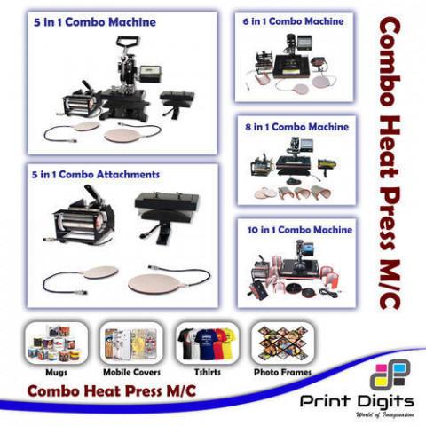 5 In 1 Semi-Automatic Combo Heat Press