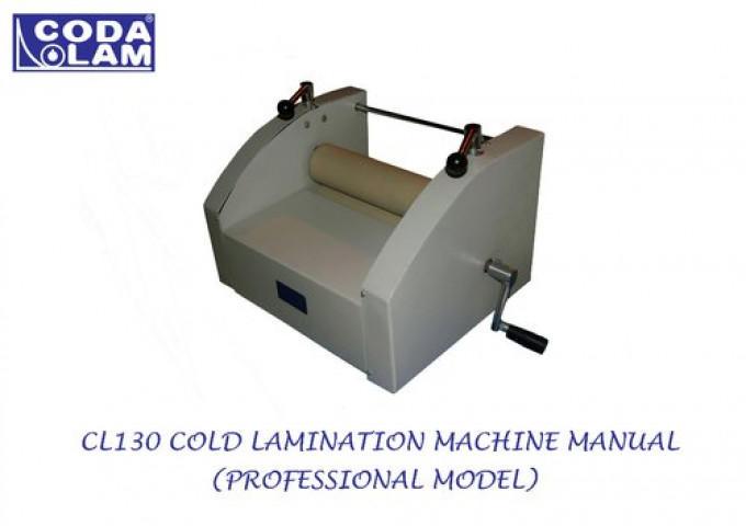 Cl130 Cold Lamination Machine Manual Professional Model