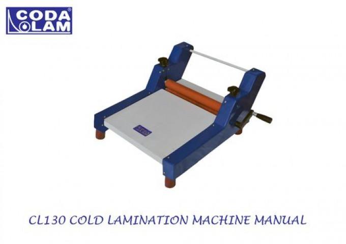 Cl130 Cold Lamination Machine Manual