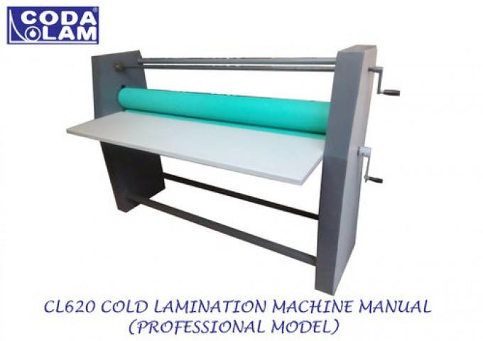 Cl620 Cold Lamination Machine Manual