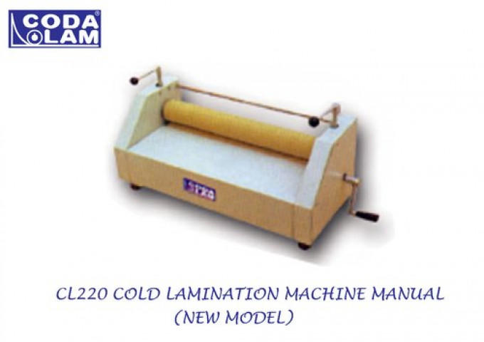 CL220 Cold Lamination Machine Manual (New Model)