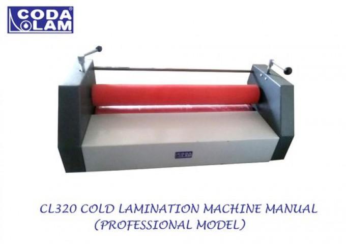 Cl320 Cold Lamination Machine Manual