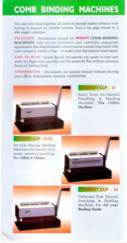 Avanti Clp 21 Comb Binder