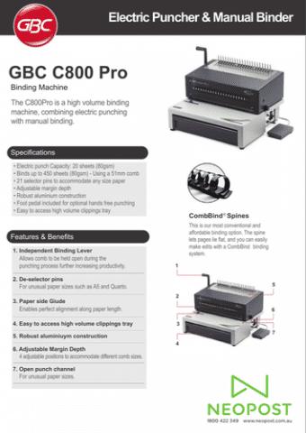 GBC Comb Bind C800Pro Document Binders