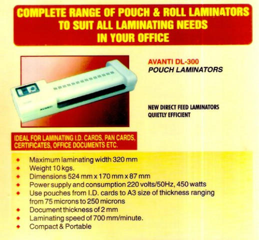 Avanti DL300 Lamination Machine