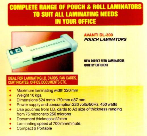 A4/A3 Avanti DL300 Lamination Machine
