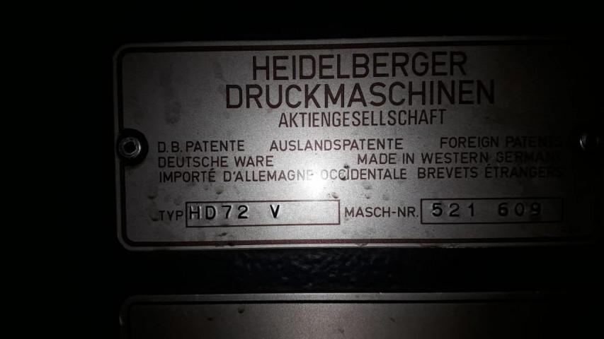 Used  Heidelberg SM 72 V Offset Printing Machine