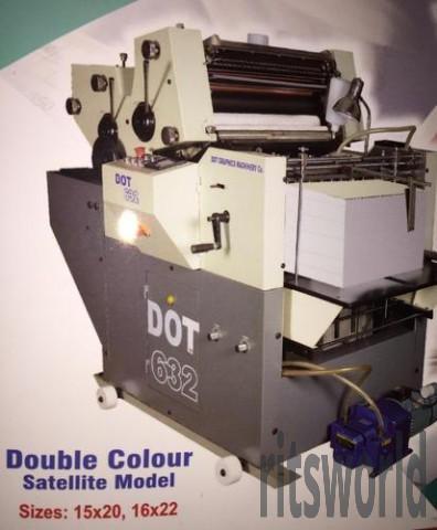 Non Woven Multi Purpose Two Color Mini Offset Printing Machine