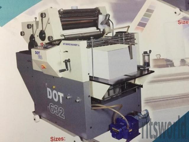 Two Color D-Cut Non-Woven Bag Multi Purpose Mini Offset Printing Machine