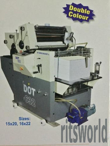Dot Graphics Two Color Mini Offset Printing Machine