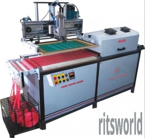 Ribbon Flatbed Screen Printing Machine