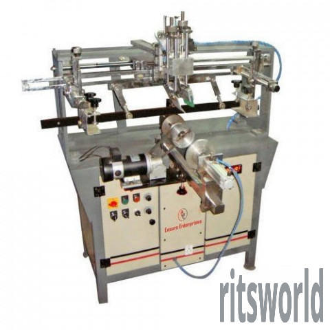 Deluxe Semi Automatic Round Screen Printing Machine