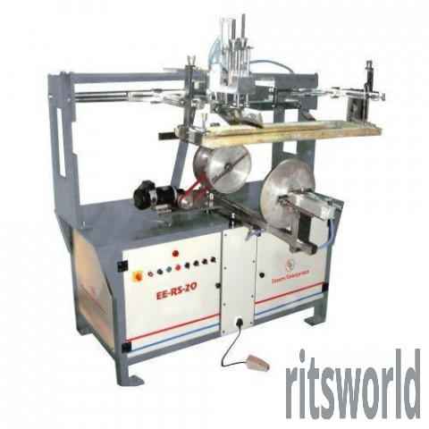 Semi Automatic EE-RS20 Round Buckets Screen Printing Machine