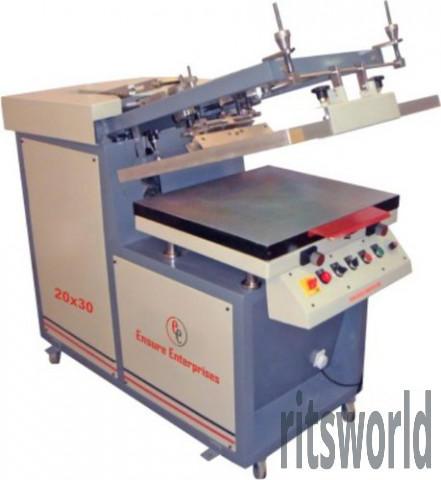 Sticker Flatbed Screen Printing Machine