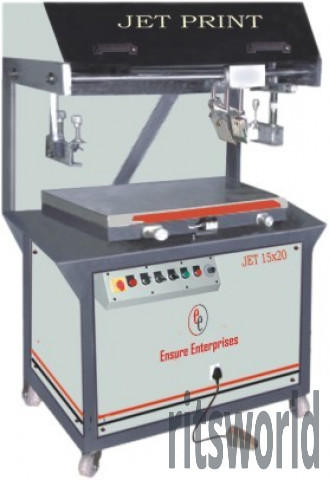 Semi Automatic Flatbed Screen Printing Machine