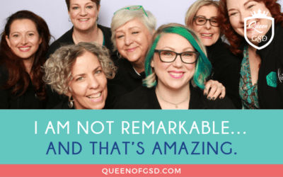 I am not remarkable…and that's amazing.