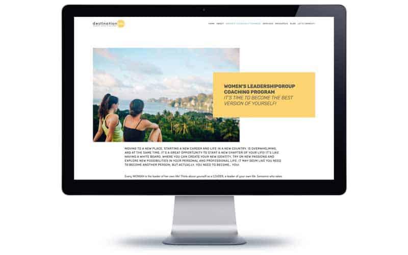 Desitnation You Coaching Website Design