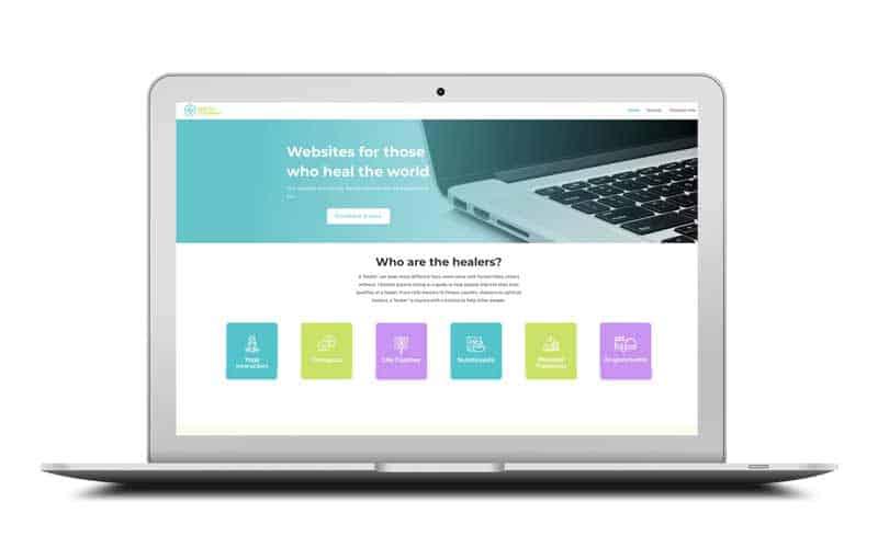 help for the healer website design
