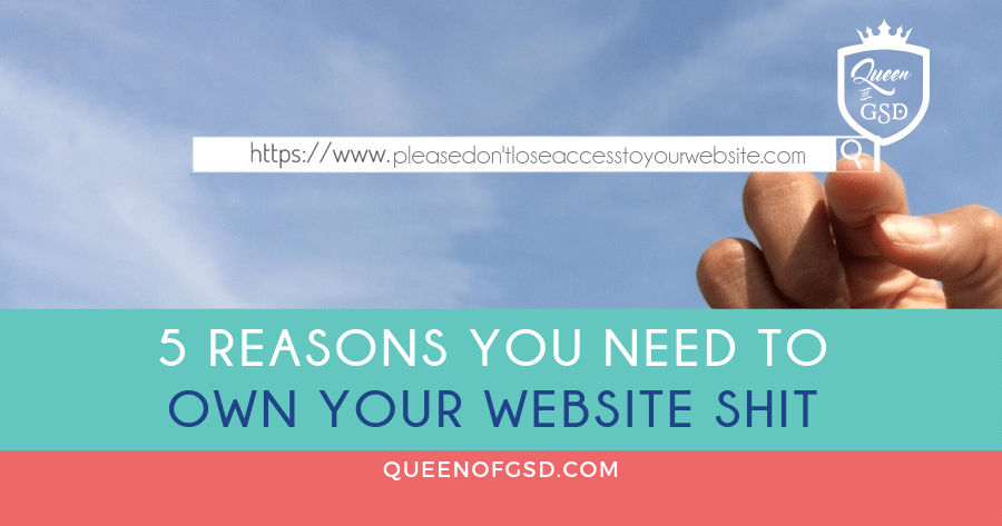 5 Reasons You Need To Own Your Website Shit