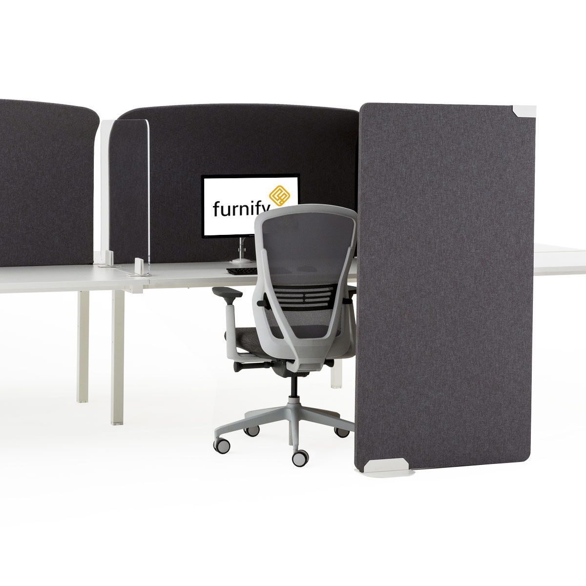 Freestanding Storage Screen with Return