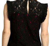Black & Pink Cotton Net Top