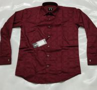 Arch C Link big check wine red casual shirt