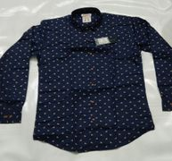 Party Wear Printed Blue Shirt