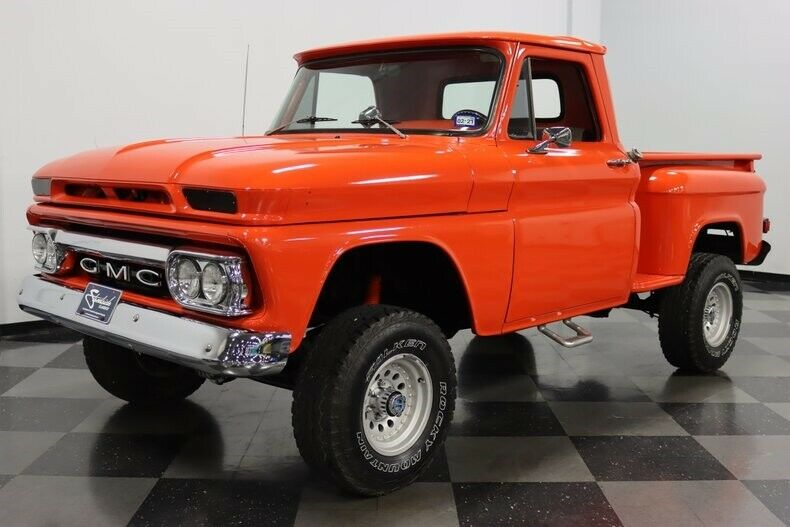 newer chassis 1965 GMC 1/2 Ton Stepside monster