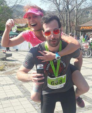 Mariannával, a Just have fun futóközösség tagjával