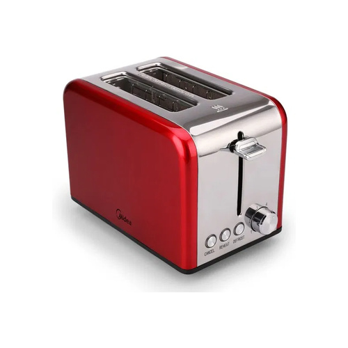 Midea 2 Slice Toaster with Toaster Rack Red - MT-RS2L13W-R