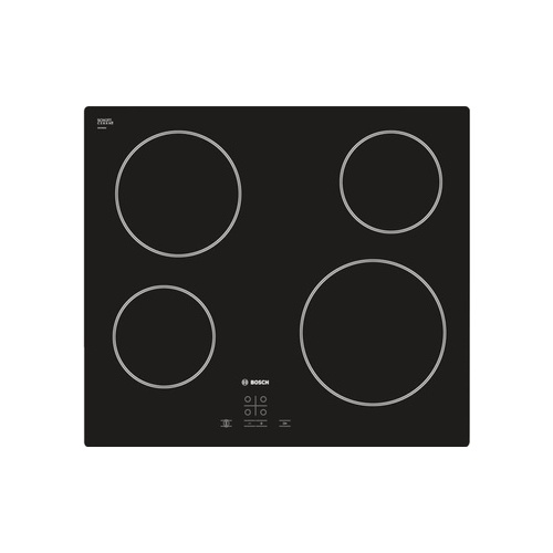 Bosch 60cm Built-in Ceramic Glass Hob Black - PKE611D17E